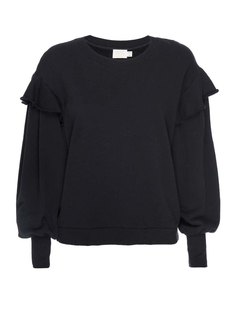 Nation LTD Helena Sweatshirt in Jet Black