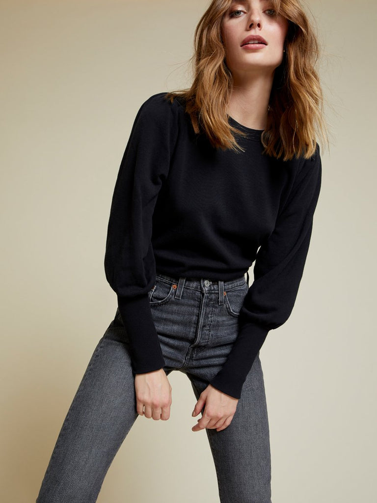Nation LTD Bethany Sweatshirt inJet Black