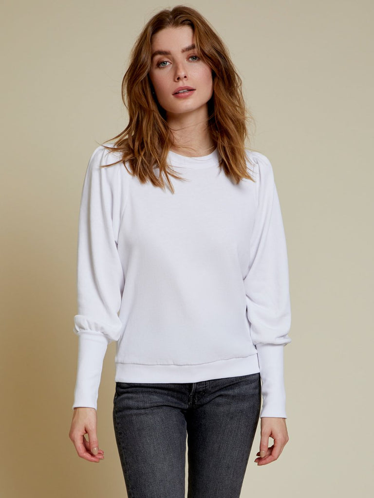 Nation LTD Bethany Sweatshirt in White