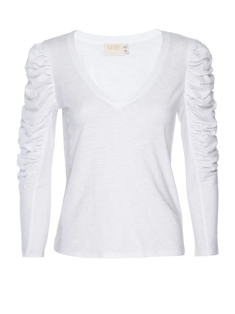 Nation LTD Kristen Long Sleeve in White