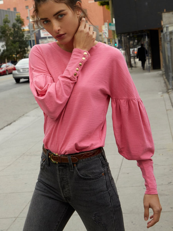 Nation LTD Giada Long Sleeve in Bubblegum