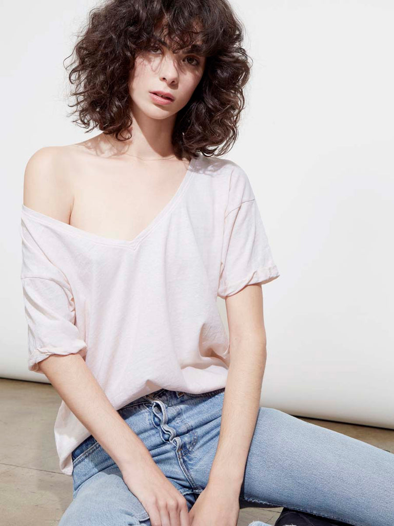 Paloma Tee in Recycled Cotton in Porcelain