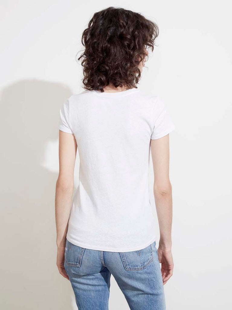 The Clean V in Recycled Cotton in White