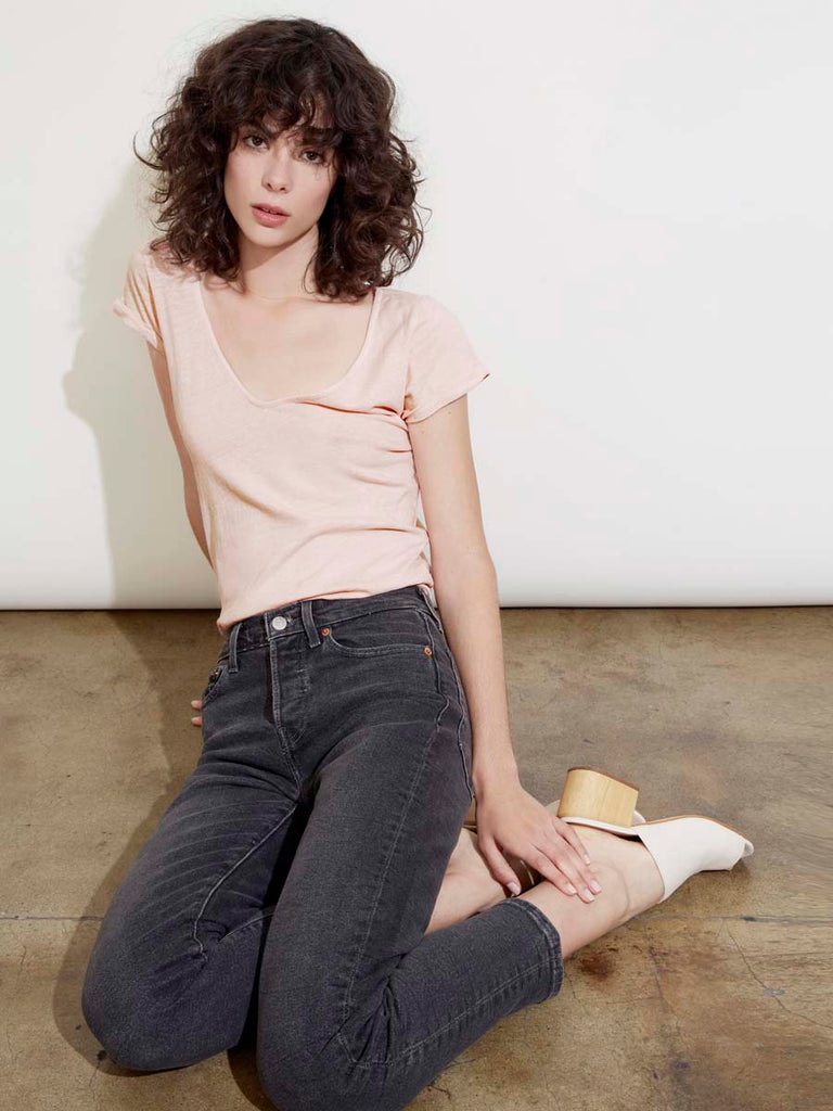 Cecilia Tee in Acid Pink