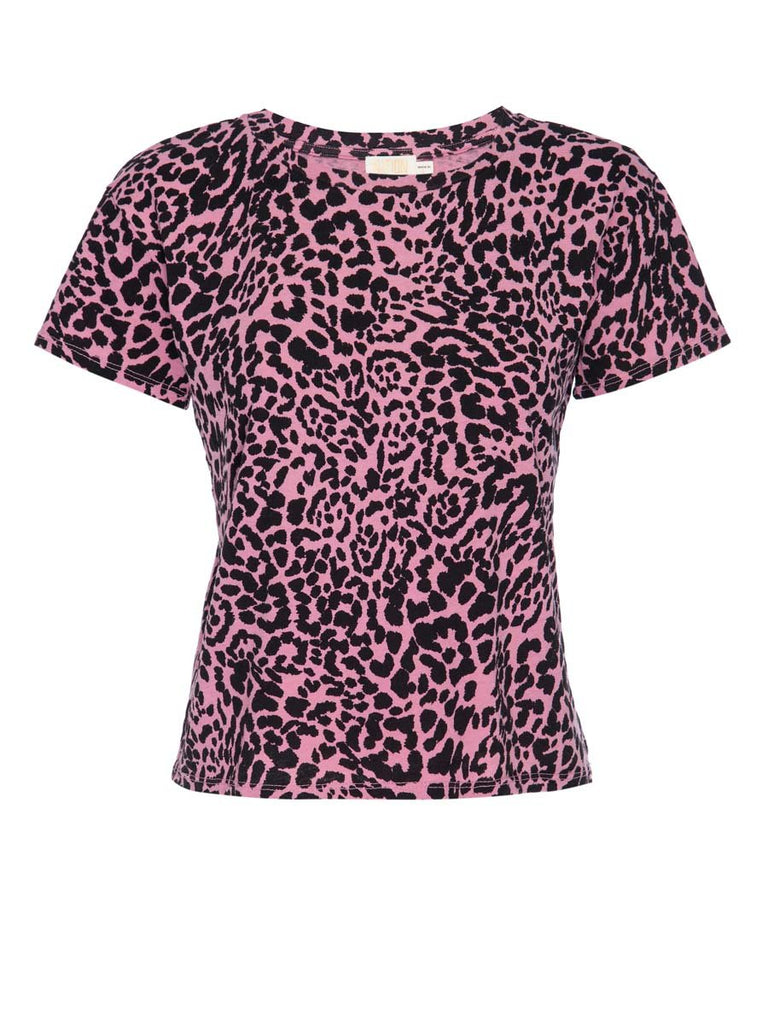Nation LTD Marie Tee in Recycled Cotton in Pink Cheetah
