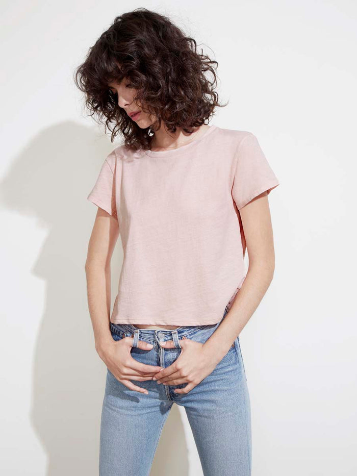 Marie Tee in Recycled Cotton in Tulip