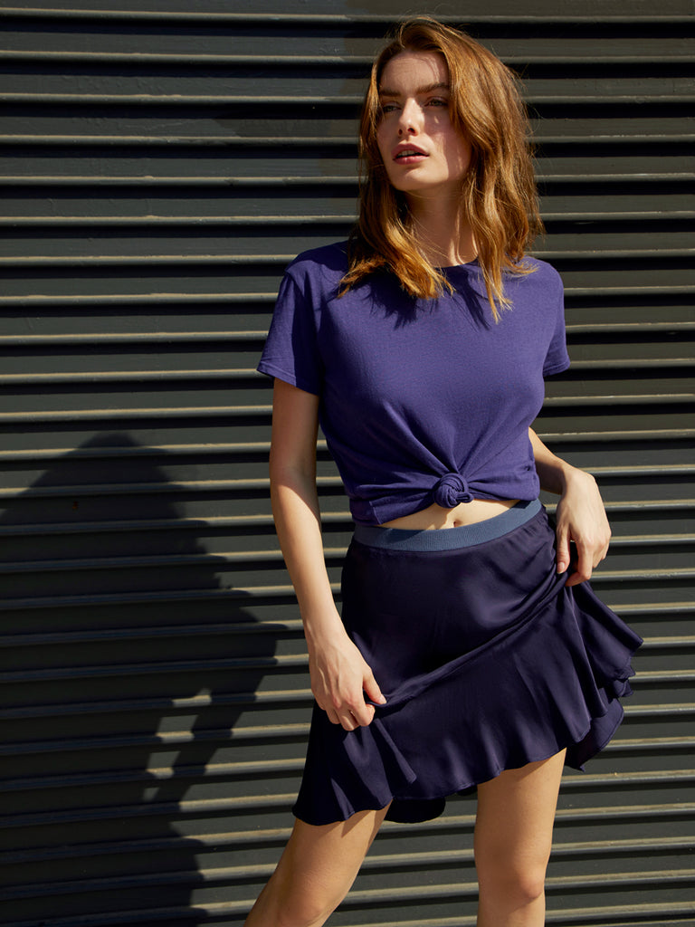 Nation LTD Claire Skirt in Indigo