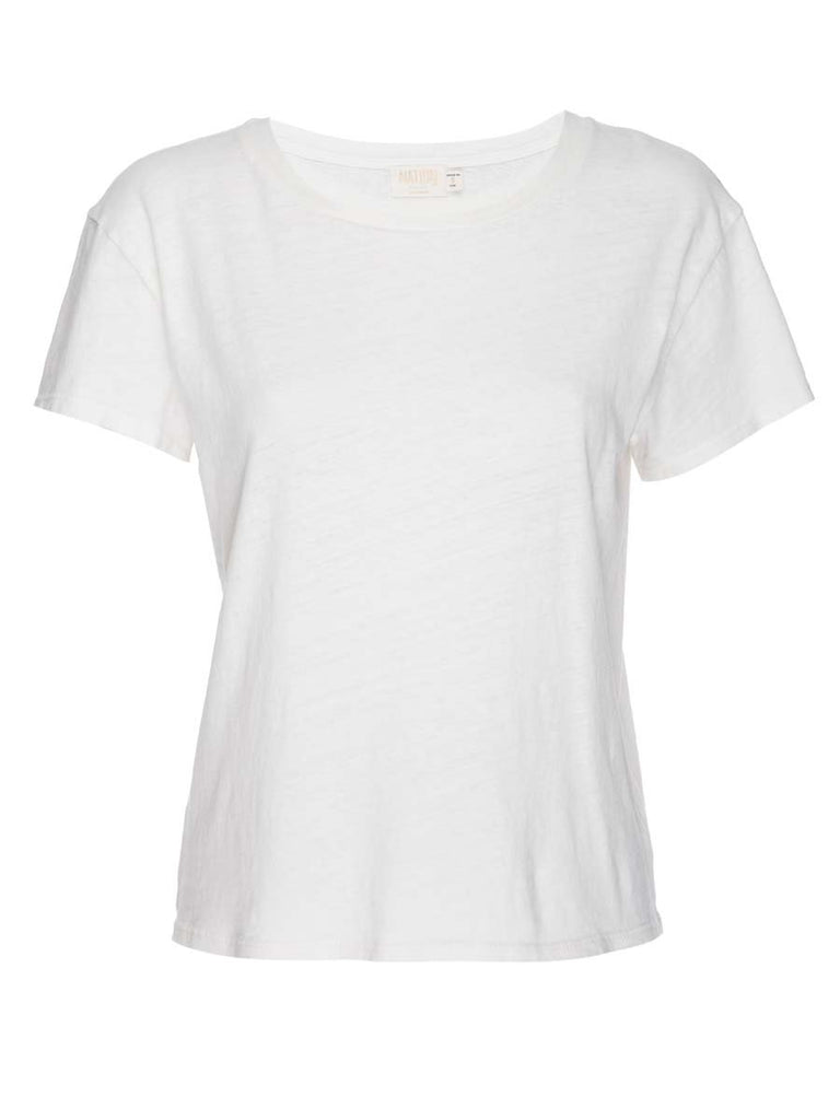 Nation LTD Marie Tee in Recycled Cotton in Off White