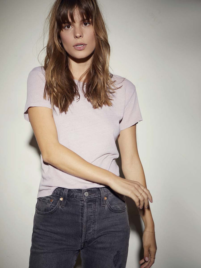 Nation LTD Marie Tee in Recycled Cotton in Putty