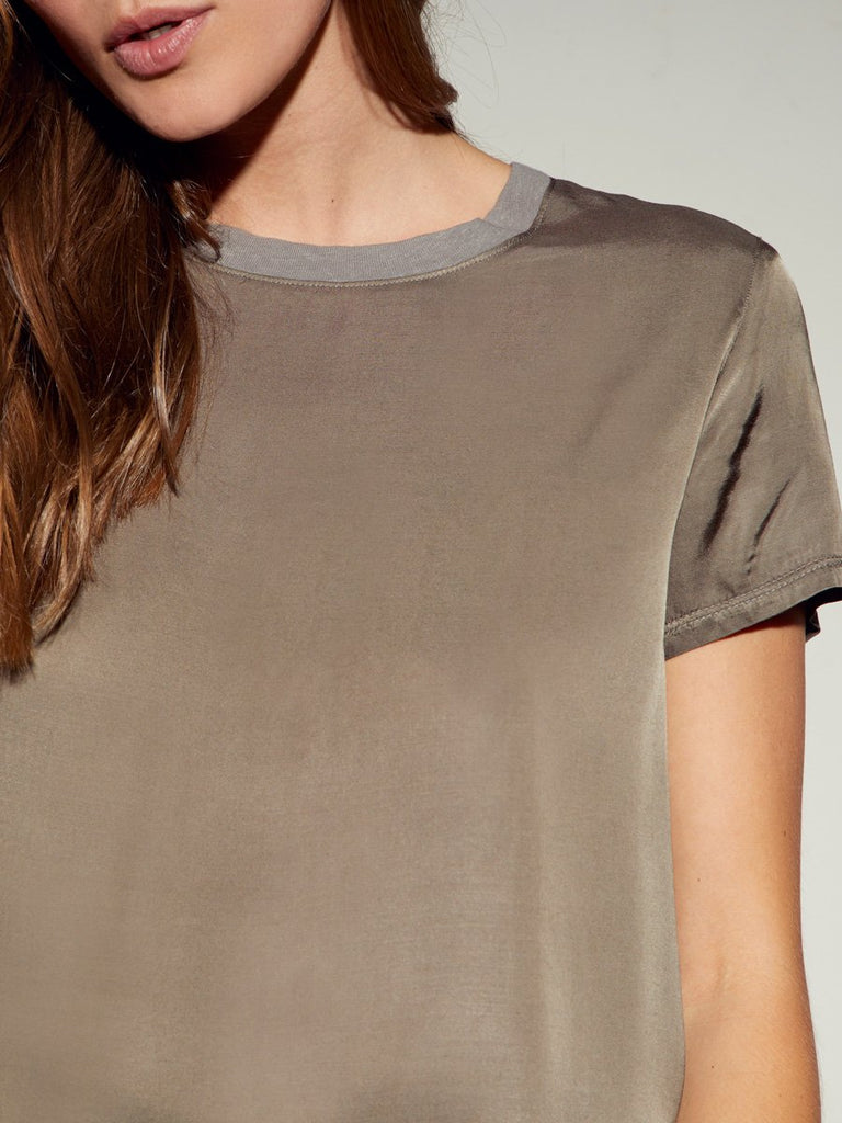 Nation LTD Marie Tee in Sateen in Battalion