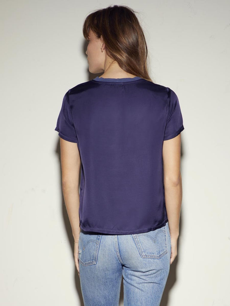 Nation LTD Marie Tee in Sateen in Indigo