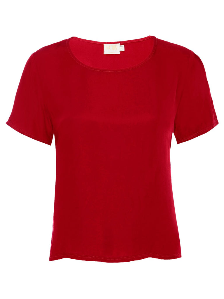 Nation LTD Marin Top in Rouge