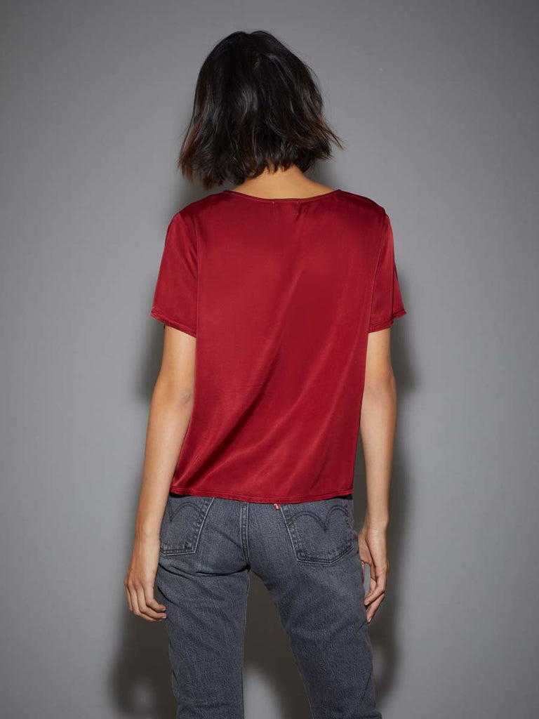 Nation LTD Marin Tee in Rouge
