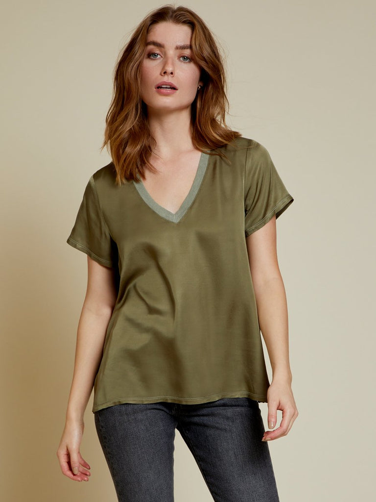 Nation LTD June V Neck in Eucalyptus