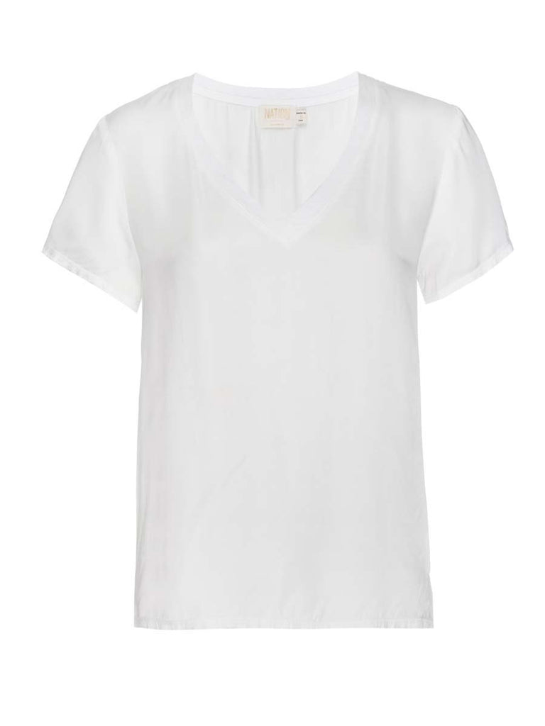Nation LTD June V Neck in White