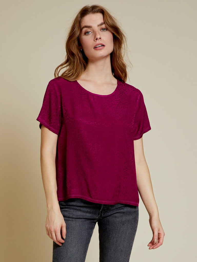 Nation LTD Marin Top in Berry