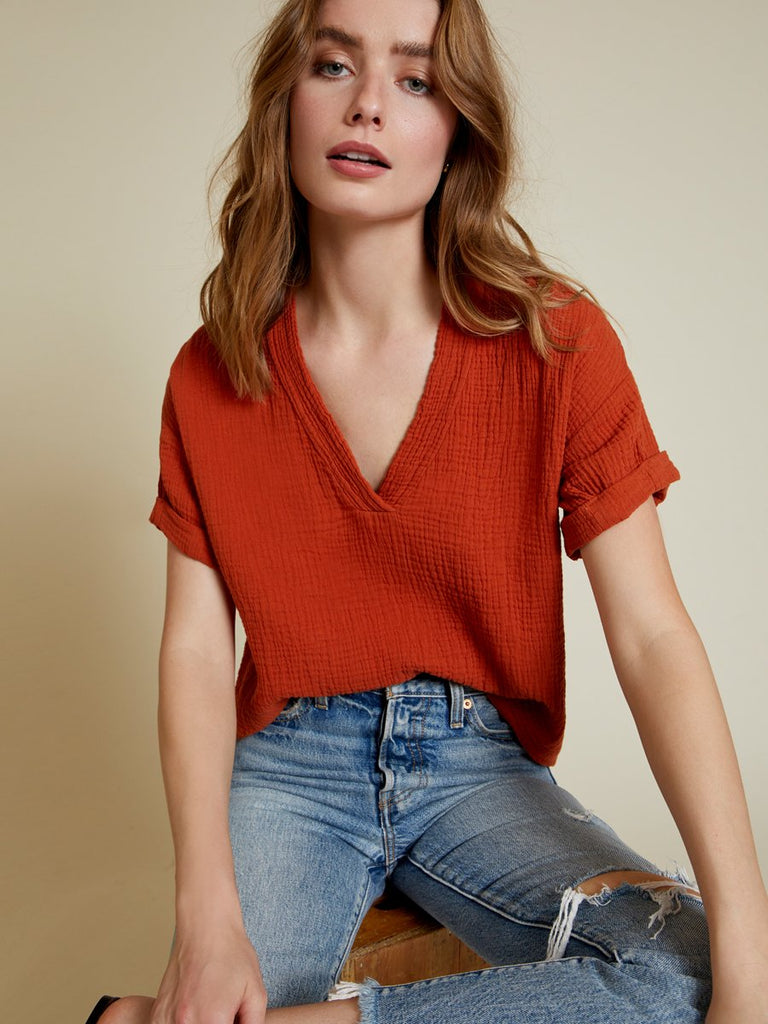 Nation LTD Karina Top in Paprika