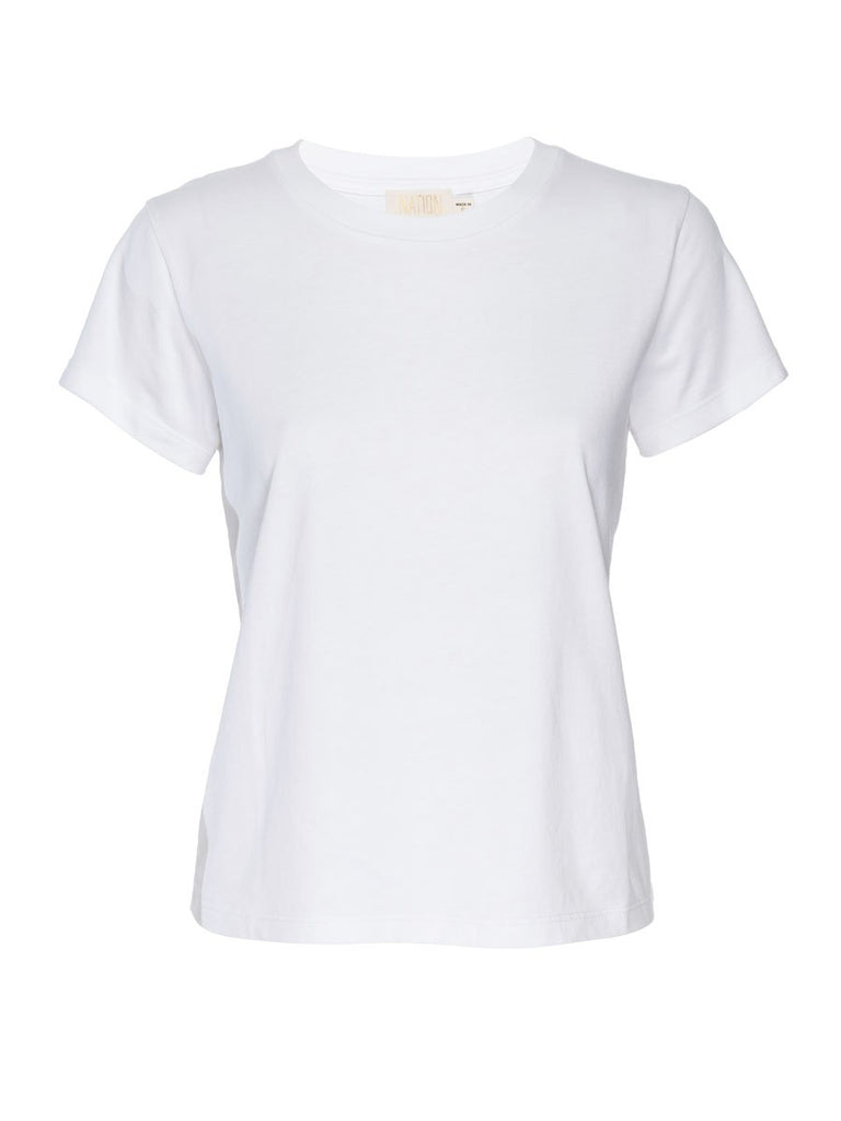 Nation LTD Goldie Tee in Organic Cotton in White