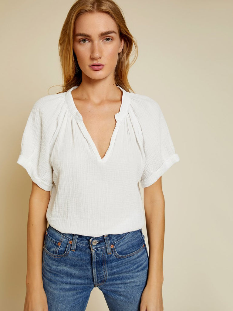 Nation LTD Odette Top in White