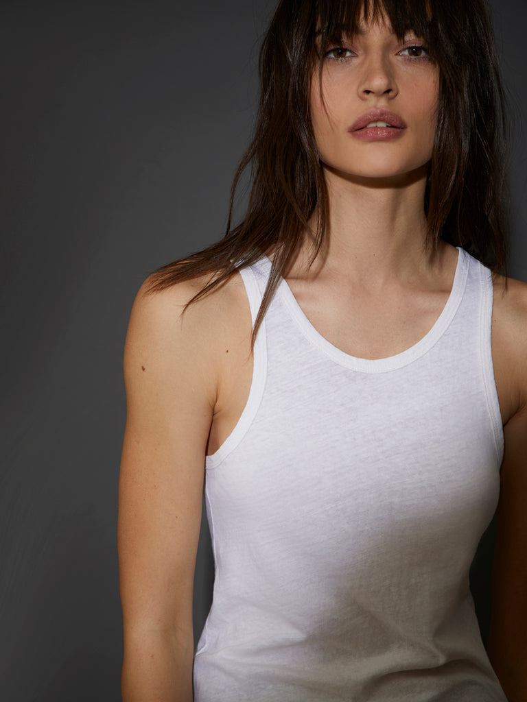 Nation LTD Birkin Tank in Recycled Cotton in Off White