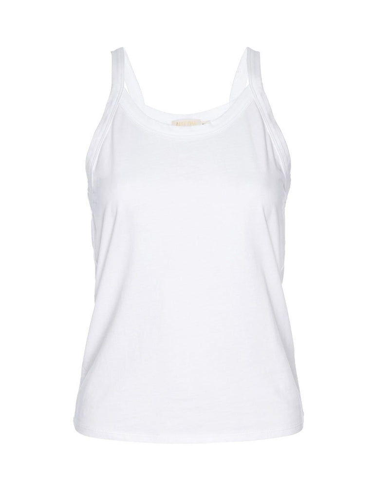 Nation LTD Rebecca Tank in Organic Cotton in White