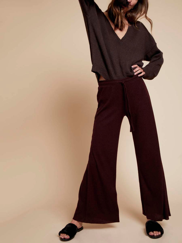 Nation LTD Westside Lounge Pant in Aubergine