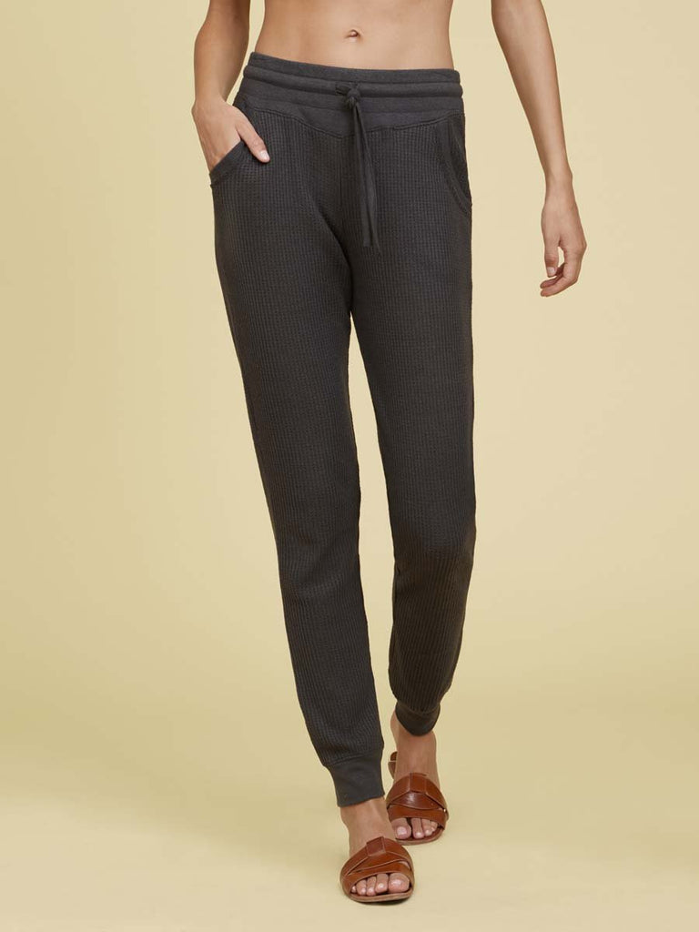 Nation LTD Silverlake Pants in Hacci in Washed Black