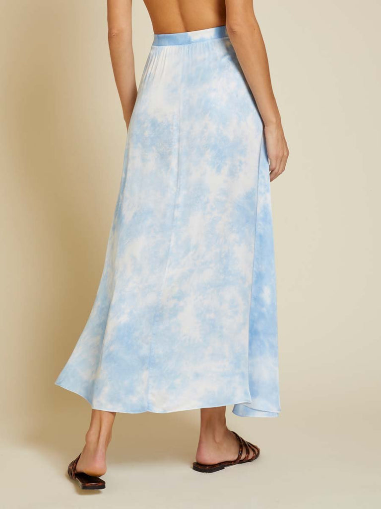 Nation LTD Giorgia Skirt in Blue Skies