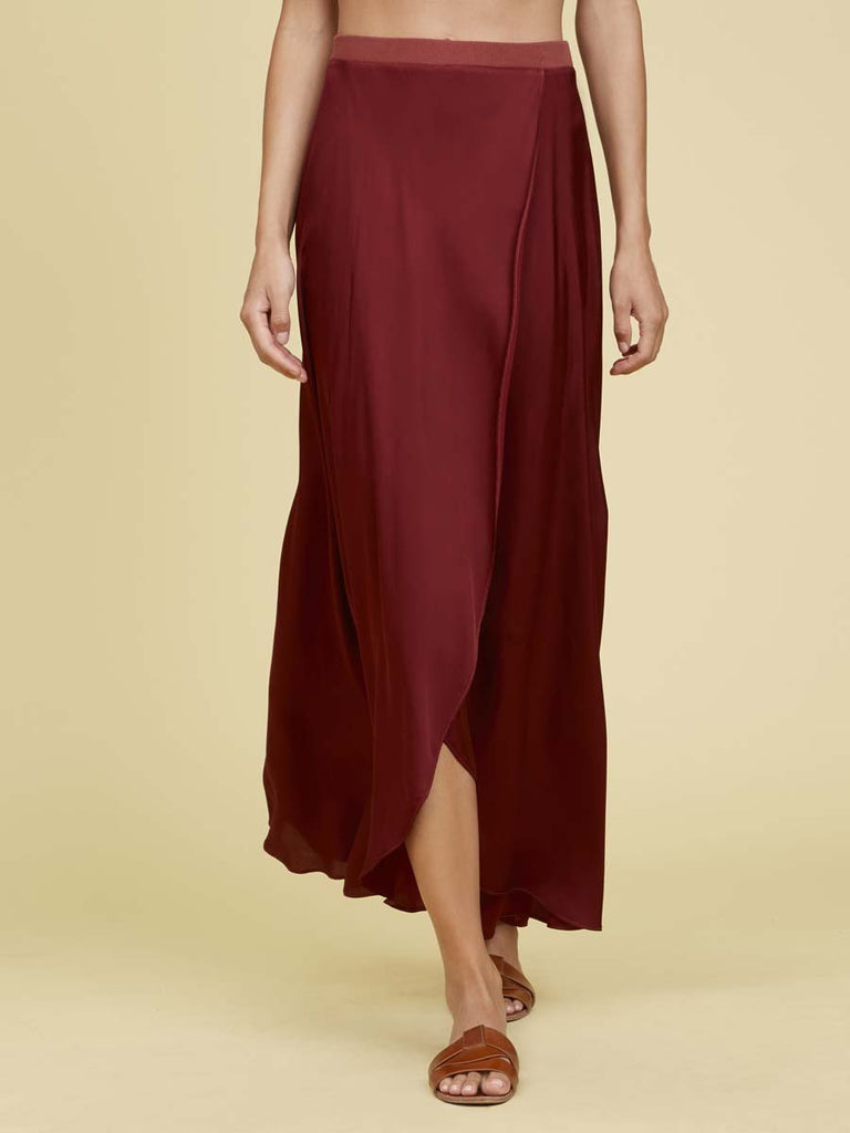 Nation LTD Giorgia Skirt in Pomegranate