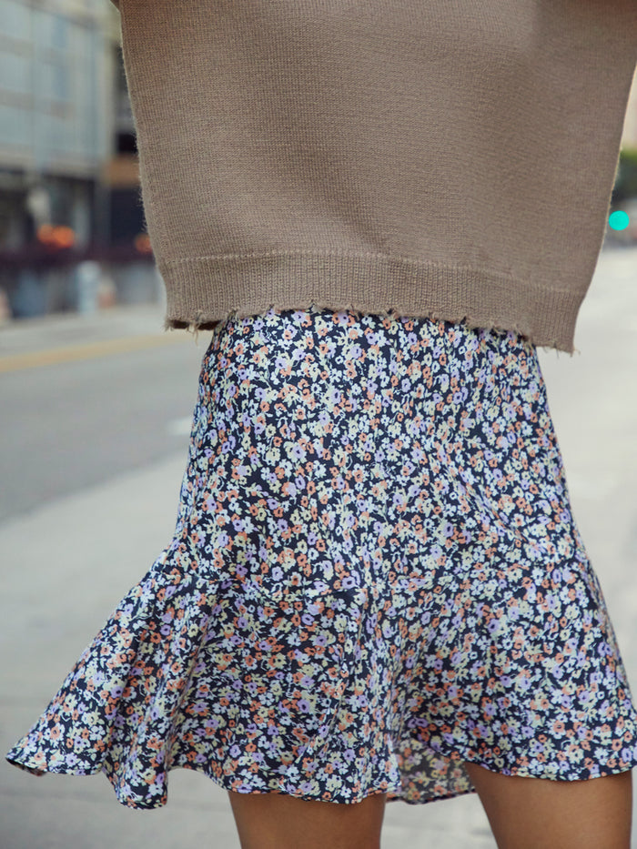 Nation LTD Claire Skirt in Ditsy Floral