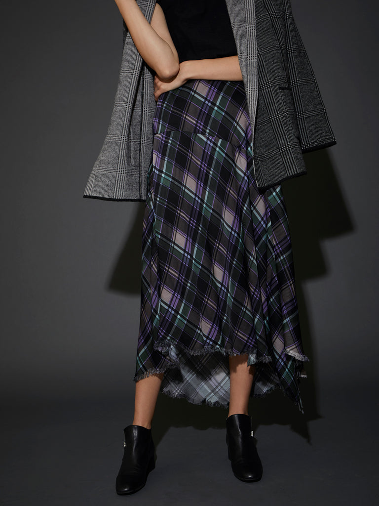 Nation LTD Georgette Skirt in Plaid