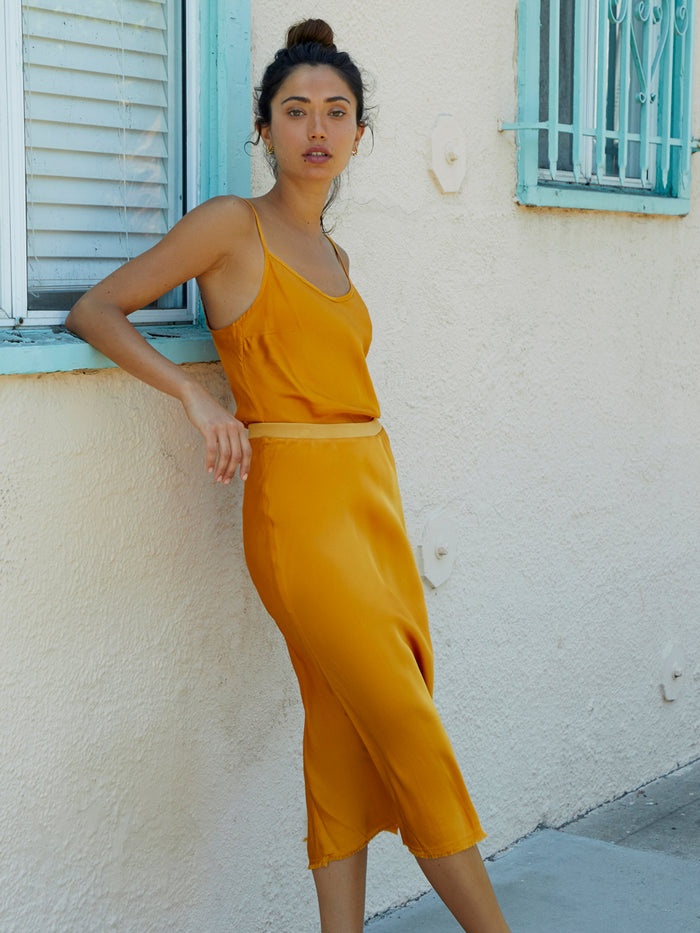 Nation LTD Mabel Skirt in Turmeric