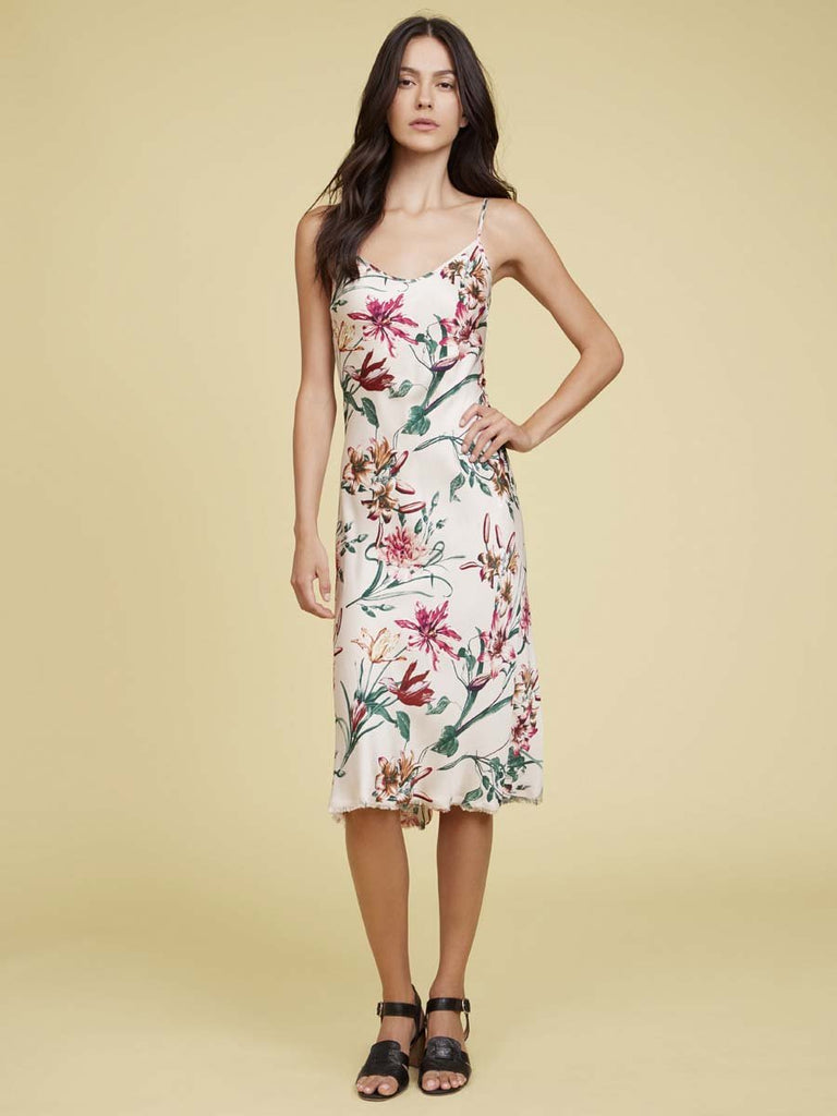 Nation LTD Sofia Slip in Floral in Cream Lily
