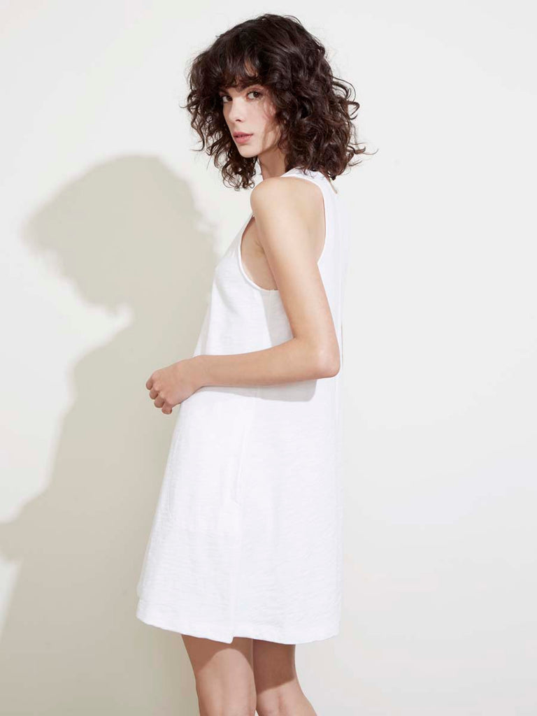 Phoebe Dress in Optic White