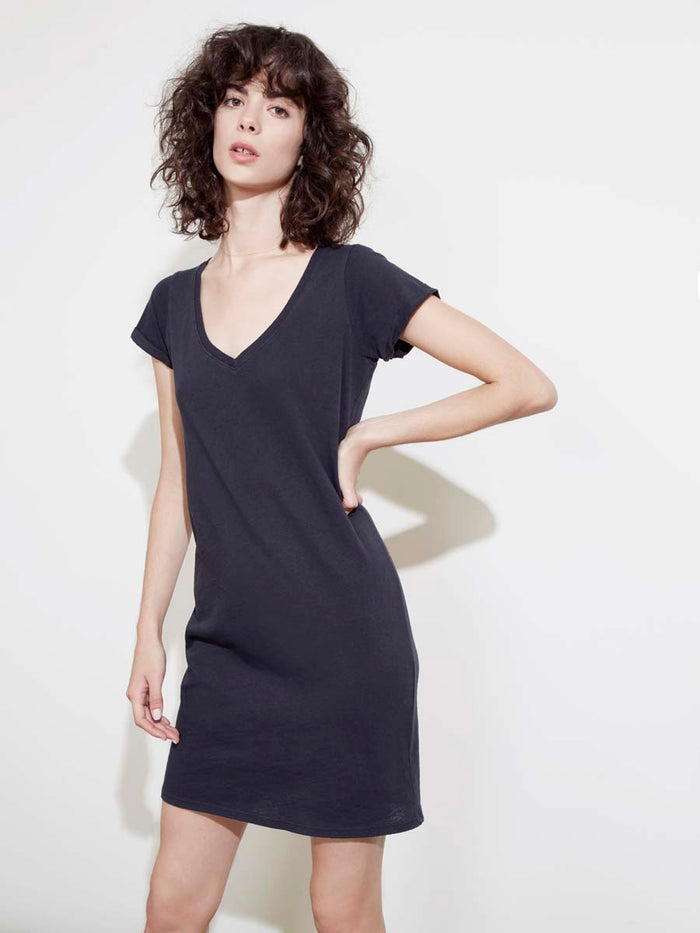 The New V Dress in Recycled Cotton