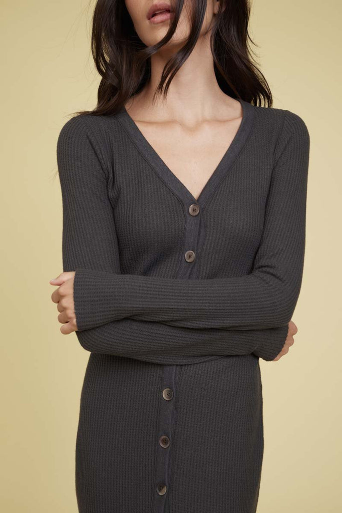 Nation LTD Kate Cardigan in Washed Black