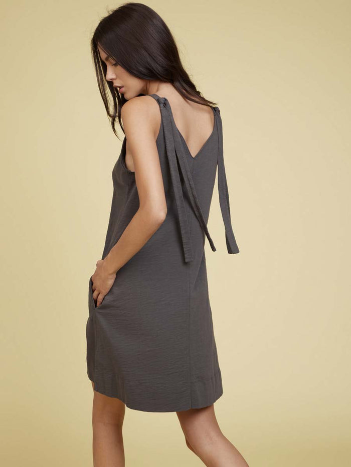 Nation LTD Leona Mini Dress in Graphite
