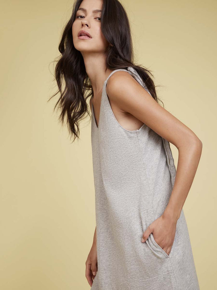 Nation LTD Leona Mini Dress in Heather Grey