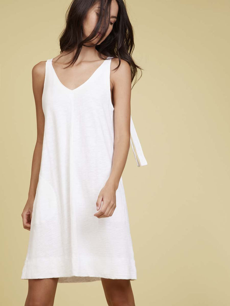Nation LTD Leona Mini Dress in Optic White