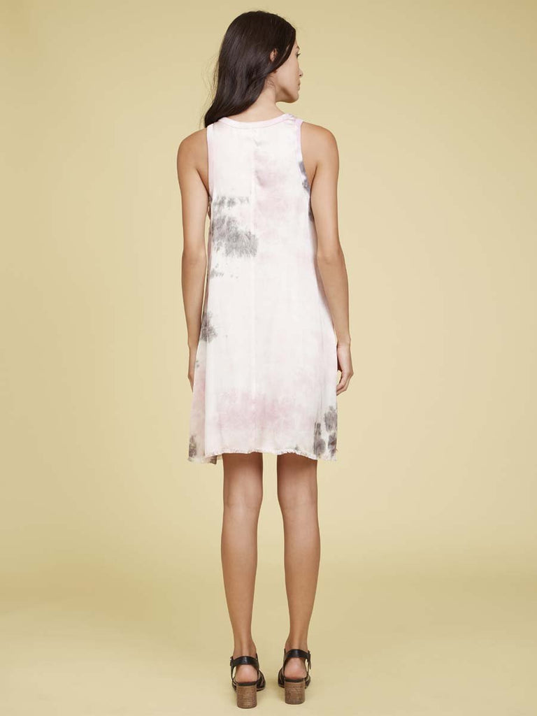 Nation LTD Piper Dress in Tie Dye in Pink Moon