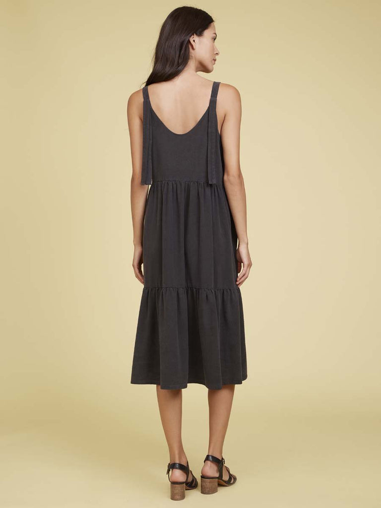 Nation LTD Elsa Dress in Washed Black