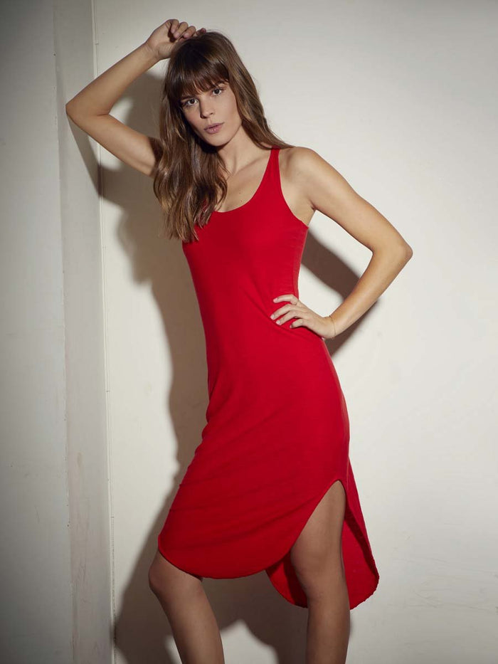 Nation LTD Alina Tank Dress in Cherry
