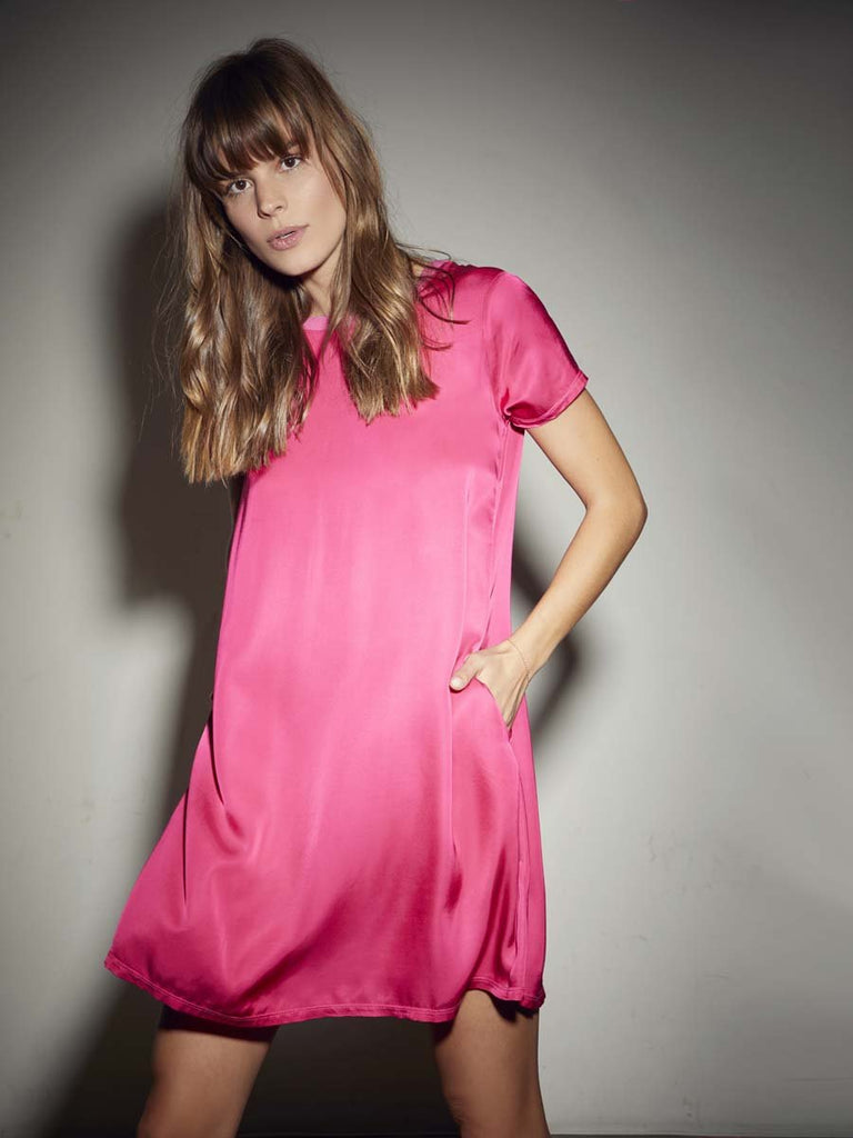 Nation LTD Marie Dress in Ultra Pink
