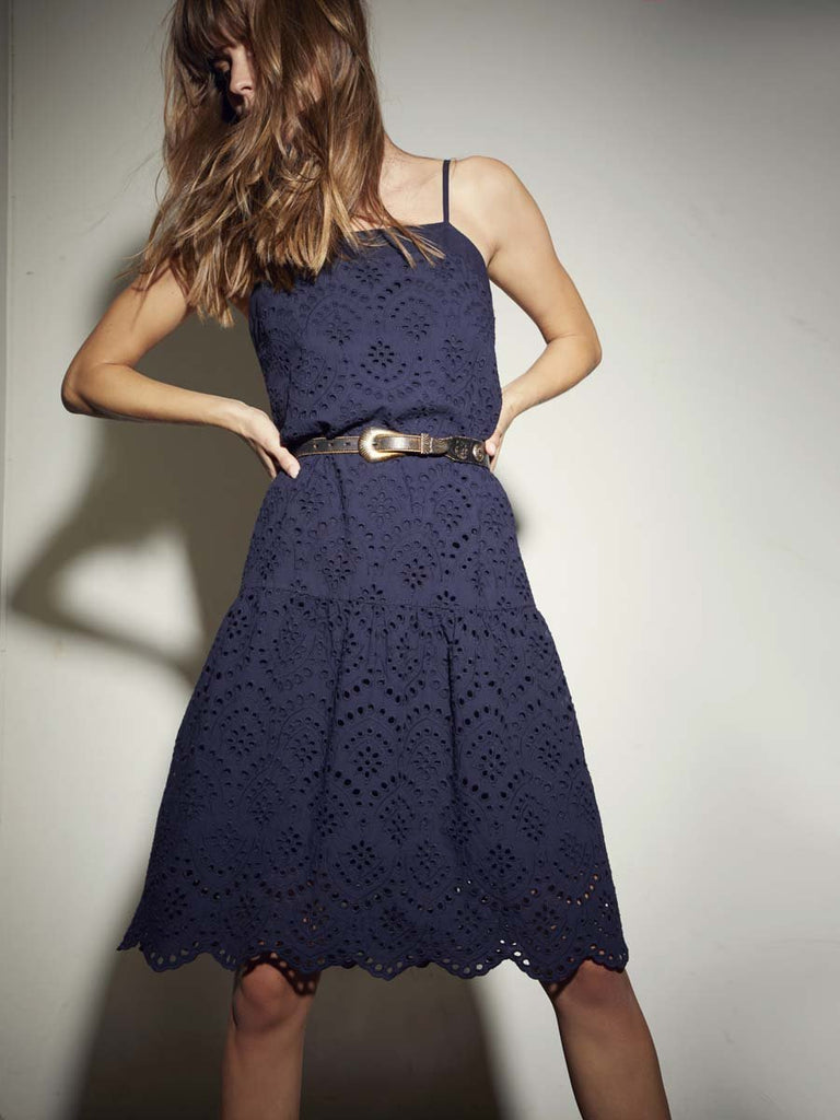 Nation LTD Rayna Dress in Indigo