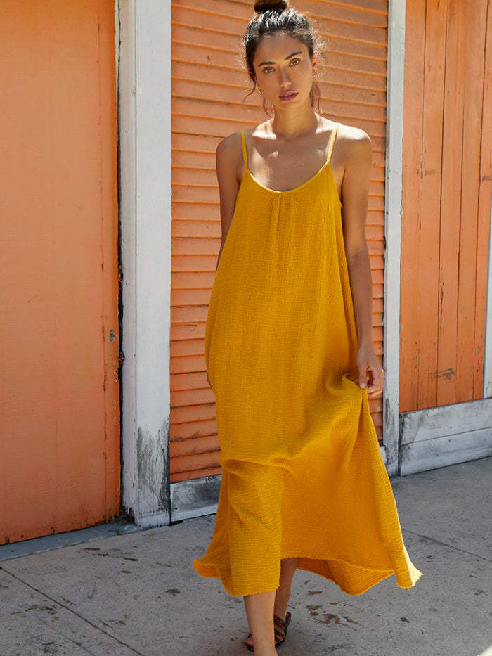 Nation LTD Lila Dress in Turmeric
