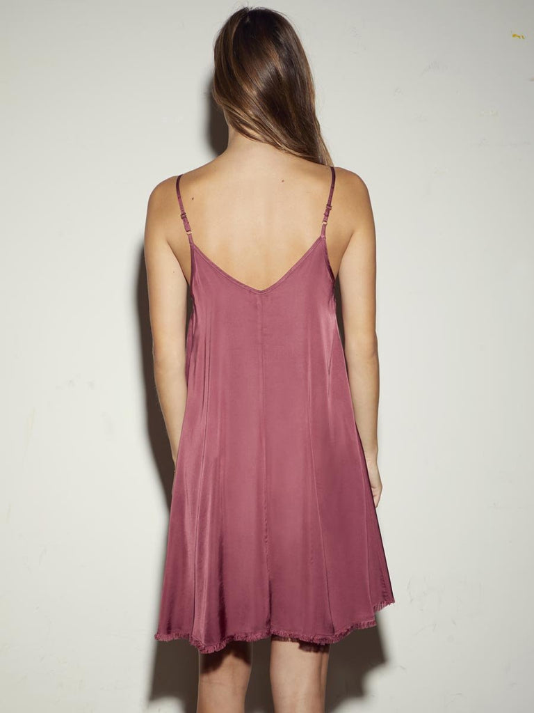 Nation LTD Sadie Dress in Currant