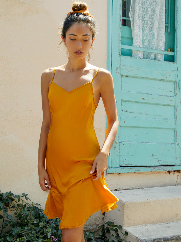 Nation LTD Sonora Slip in Turmeric