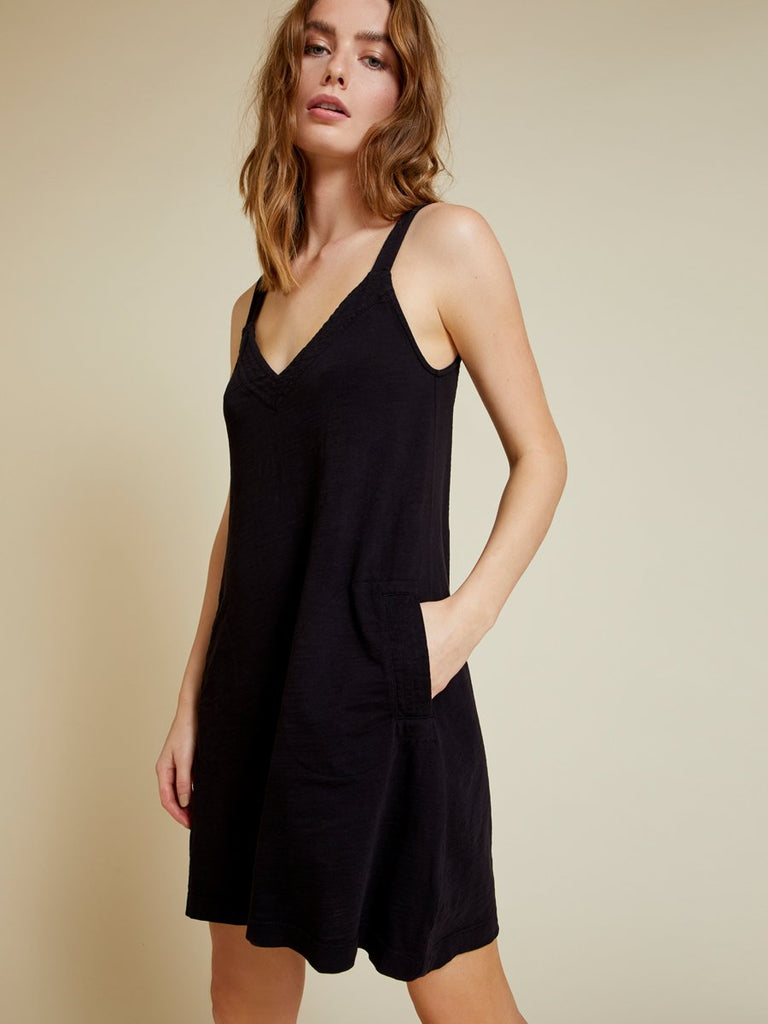 Nation LTD Larkin Dress in Jet Black