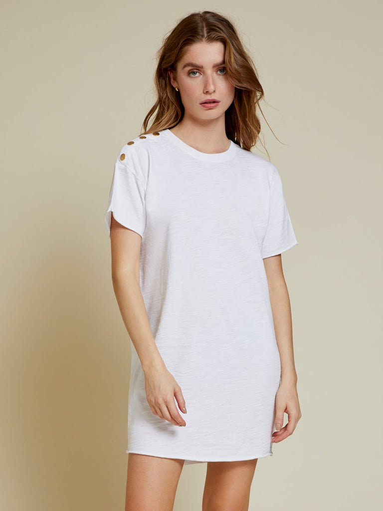 Nation LTD Rowan Dress in Optic White