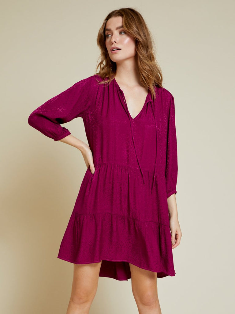 Nation LTD Liza Dress in Berry